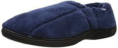 Isotoner Men's Microterry Slippers with Memory Foam