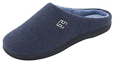 HomeIdeas Men's Classic Memory Foam Plush House Slippers