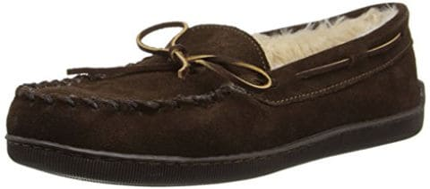Minnetonka Men's Pile Lined Hardsole Slipper