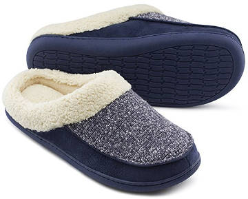 HomeTop Men's and Women's Memory Foam Slippers