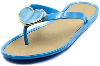 Charles Albert Women's Jelly Heart Ornament Flip Flop