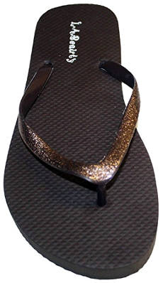 L.A. Beauty Women´s Flip Flop with Glitter Straps