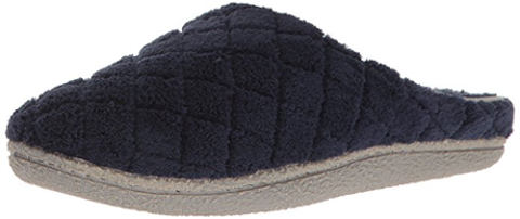Dearfoams Women's Quilted Terry Clog Mule Slipper