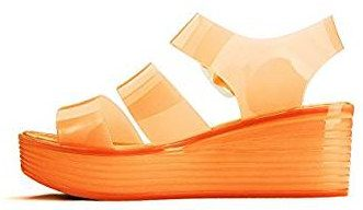 Jelly platform wedge heel sandals