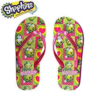 Shopkins Girls Flip Flops with Jelly Straps