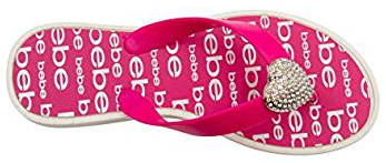 Heart jelly flip flop for girls