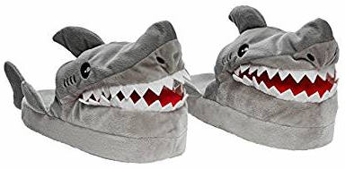 Stompeez Animated Shark Plush Slippers