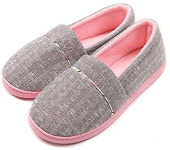 ChicNChic Women´s Cotton Knit Anti-Slip and Washable Slippers