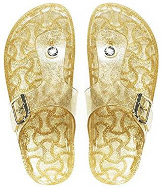 Glitter Jelly Thong Sandals