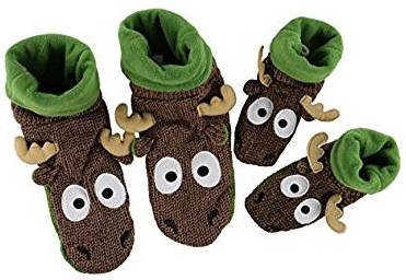 Woodland moose slippers