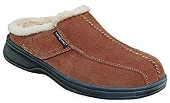 Orthofeet Asheville Diabetic Men's Orthopedic Leather Slippers