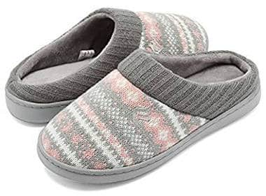 CIOR Fantiny Women's Sweater Knit House Slippers