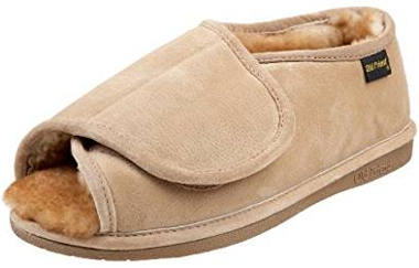Old Friend Men's Step-In Open-Toe Slipper