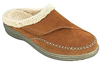 Orthofeet Charlotte Orthopedic Leather Women's Slippers