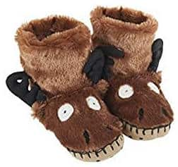 Moose bootie slippers for kids