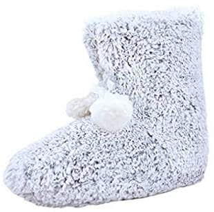 Sweater knit bootie slippers