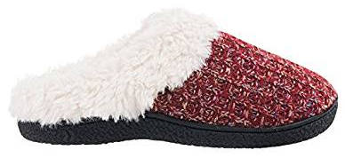 ISOTONER Women´s Sweater Knit Hoodback Slipper