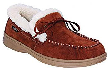 Orthofeet Orthopedic Men's Brown Leather Wide Moccasins