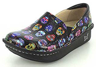 Sugar Skulls slip-on platform shoes