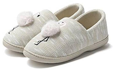 Flamingo Patterned Knit Slippers for Women