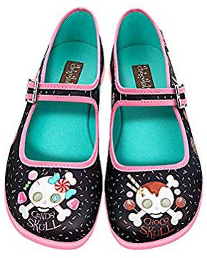 Cute candy scull flat shoe for women