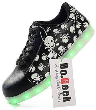 Led light up scull shoes for Halloween party