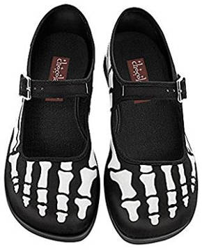 Skeleton feet flat shoes for women