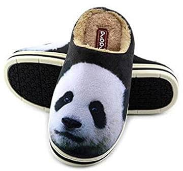 Unisex Panda Cartoon Pattern Winter Slipper