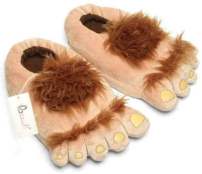 Big hairy feet Hobit slippers