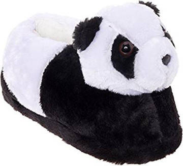 Silver Lilly Panda Bear Slippers
