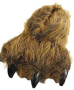 Grizzly bear paw slipper