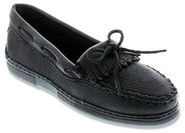 Genuine moosehide loafer moccasin shoes for women