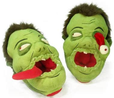 Zombie slippers for Halloween