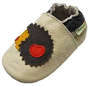 Hedgehog baby and toddler moccasin shoes