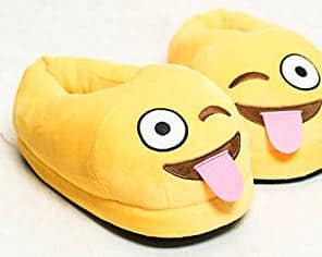 Emoji Smiley Face Plush Home Slippers