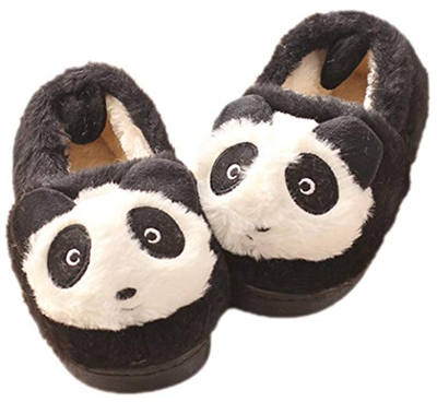 MiYang Panda House Bootie Slippers for Kids/Toddlers