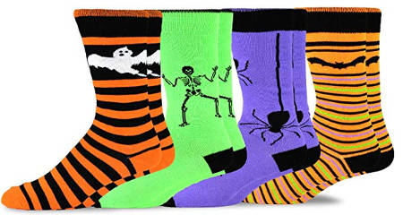 Bright colored Halloween socks