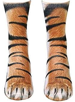 Animal Paw Print 3D Socks for Men Women and Kids