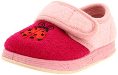 Fuschia and Pink ladybug slipper for toddlers