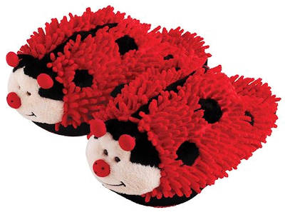 Fuzzy Friends Women's Lady Bug Slippers