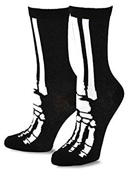 Young Men Halloween Skeleton Fun Crew Socks