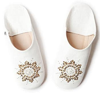 White Moroccan slipper