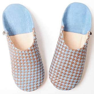 Handmade leather Moroccan slippers