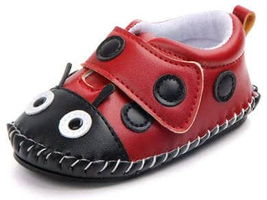 Ladybug Walking Slippers for Infants and Toddlers