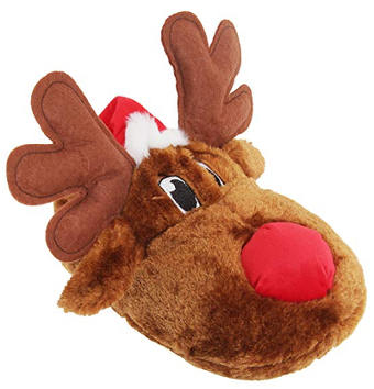 Unisex Christmas Reindeer Design Novelty Slippers for Adults