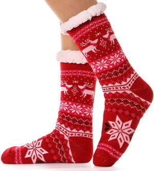 Women's Fuzzy Slipper Socks