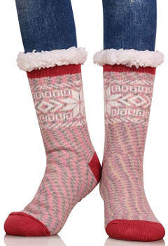 Dosoni Women Snowflake Winter Slipper Socks