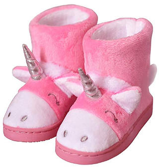 Pink Unicorn Cartoon Bootie Slippers