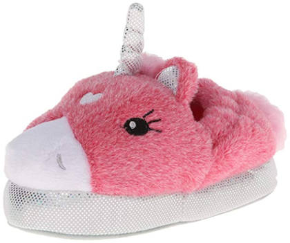 Pink Silver Unicorn Slippers With Light Up Eyes By Stride Rite