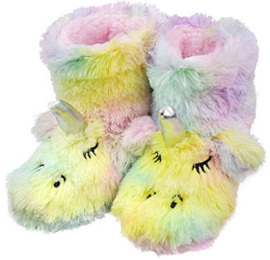 Rainbow Unicorn Bootie Slippers